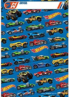 Amscan Boys Fast Riding Hot Wheels Wild Racer Birthday Party Folded Loot Bags (Pack Of 8), Multicolor, 9