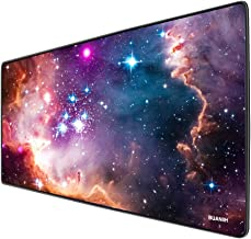 BUANIIH Galaxy Gaming Mouse Pad XL, Extended Large Mouse Mat Desk Pad, Stitched Edges Mousepad, Long Non-Slip Rubber Base Mice Pads (27.6