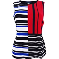 Tommy Hilfiger Blue Red White Striped Large Tank Cami Top