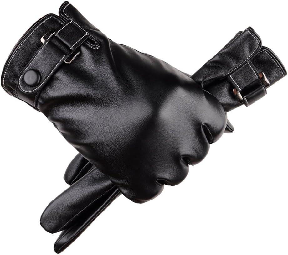 YOMXL Men Leather Gloves Warm Winter Gloves Touchscreen Gloves Driving Gloves Fleece Lined Gloves Cold Weather Gloves