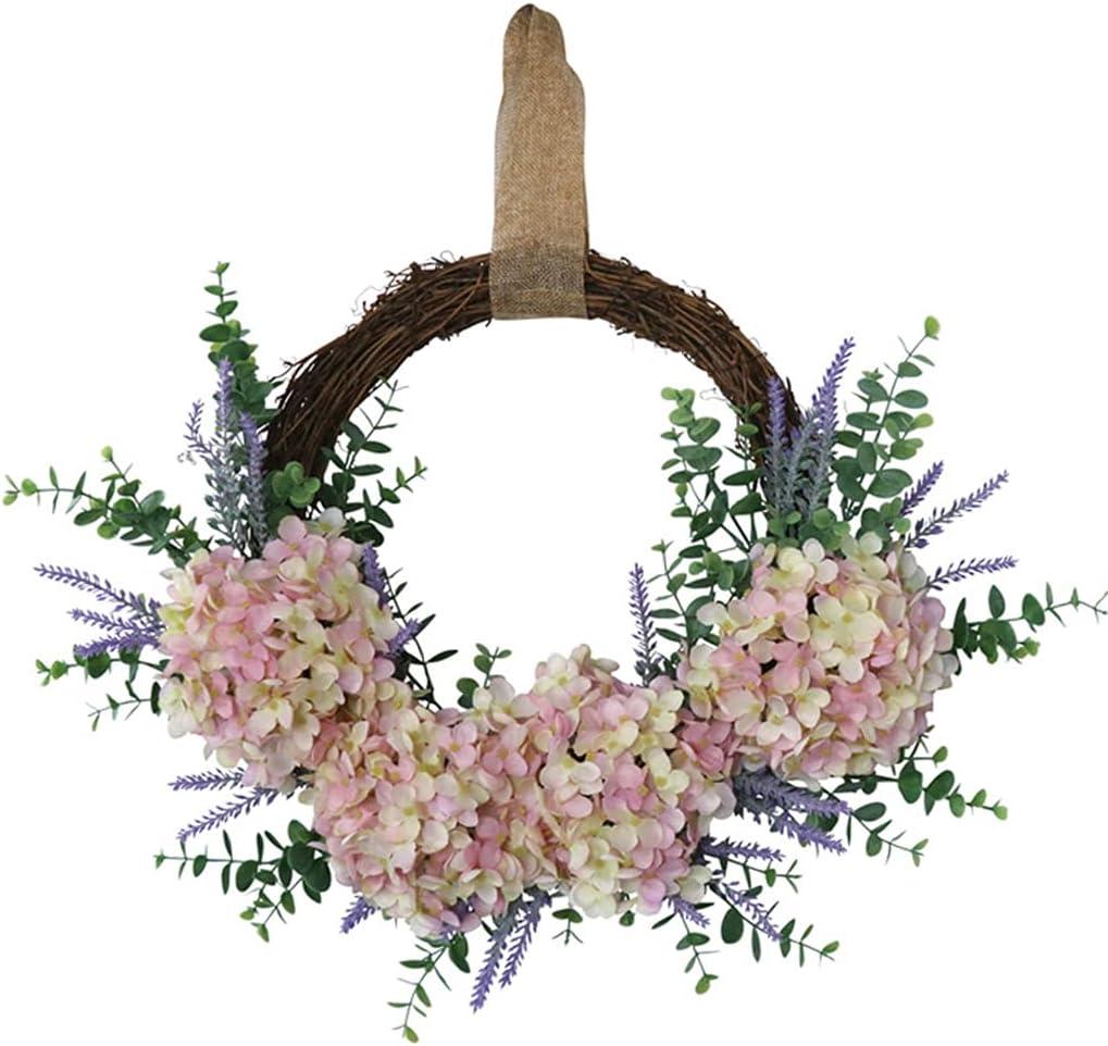 yhengg Artificial Sale Special Price Wreath Simulation Mesa Mall Hydrangea Garland Eucalyptus