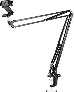 Neewer Adjustable Desktop Clamp Suspension Boom Scissor Arm Stand Holder for Logitech Webcam C922 C930e C930 C920 C615, 360 Degree Rotation Swivel Mount, Load up to 4.4 pounds/2 kilograms (NW-39)