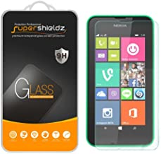 (2 Pack) Supershieldz for Nokia Lumia 635 and Lumia 630 Tempered Glass Screen Protector, Anti Scratch, Bubble Free