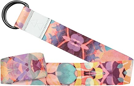 The Yoga Strap by YOGA DESIGN LAB | Luxurious, Extra Long, Super Soft, Eco Printed | Designed in Bali | Studio Quality, Adjustable | Safely Stretch Further and Hold Longer | 240cm Long