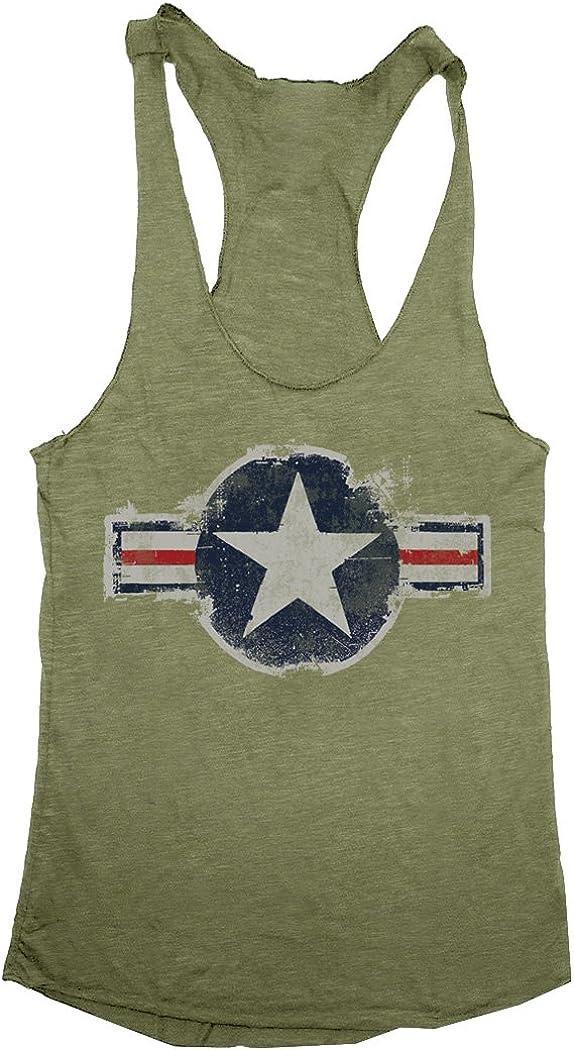 Award-winning store Vintage United States Air Force Tri-Blend Women's Racerback Popular Tank