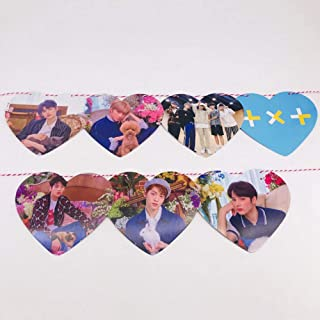 Chutoral 8 Pcs Kpop BTS Banners, Kpop Blackpink TXT GOT7 Hanging Flags Bunting for Home Decor Party Favors for A.R.M.Y(TXT)