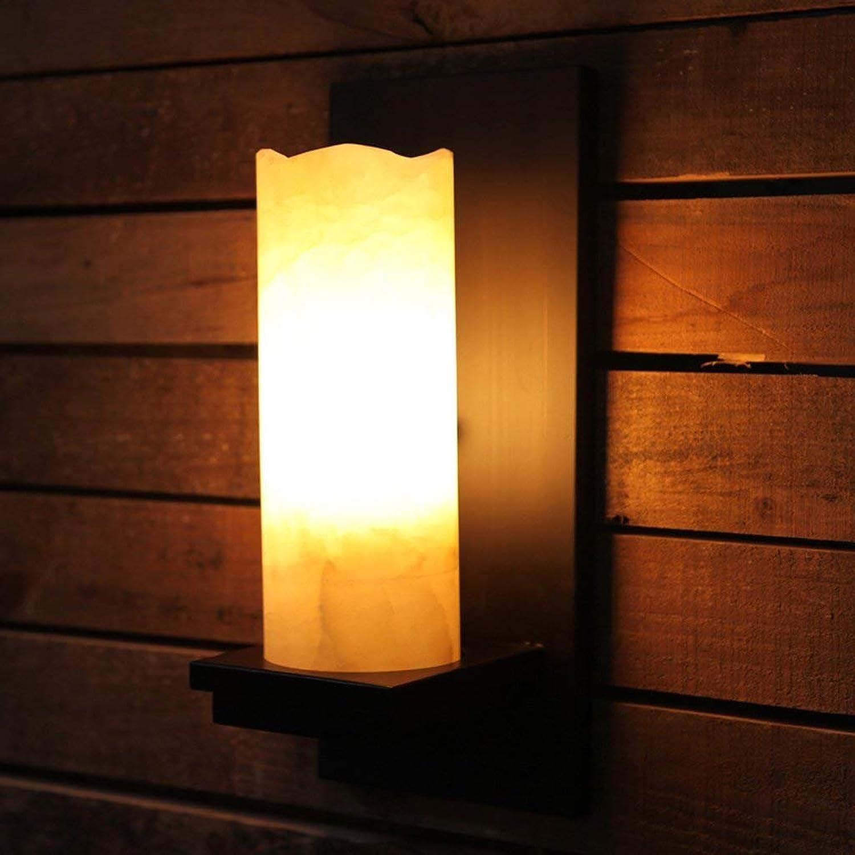 YAN Retro American Country Schlafzimmer Nachttisch Wandleuchte Hotel Engineering Lampe Marmor Treppen, Schmiedeeisen Lampen