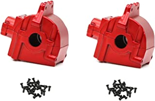 Binchil Metal Wave Box Gear Box Shell Cover Differential Housing 144001-1254 for Wltoys 144001 1/14 RC قطعات خودرو ، قرمز 2 عددی