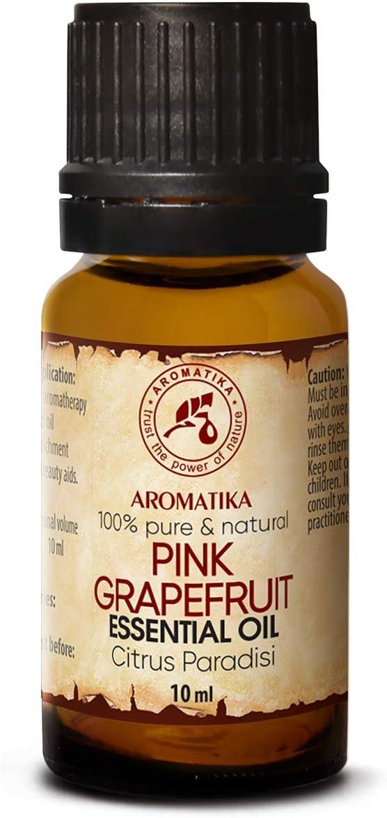 Pink Pomelo Aceite Esencial 10ml - 100% Puro & Natural - Citrus Paradisi - Sudáfrica - para Buen Sueño - Belleza - Aromaterapia - Spa - Difusor - Lámpara de Aroma - Fragancia de Habitación - Masaj