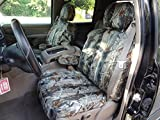 Durafit Seat Covers, C1999 MC2-C, Seat Covers Made in MC2 Camo Endura for Chevy Silverado, Avalanche and GMC Sierra Front Captain Chairs with Dual Electric Seats and Side Impact Airbags in Seats