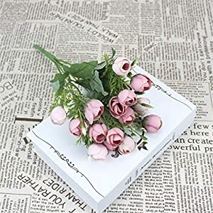 15 Lovely Silk Peony Artificial Flowers Bridal Bouquet Fake Rose Bouquet Wedding Family Party Decoration DIY