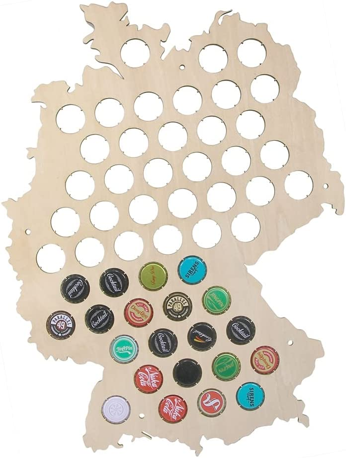 Nakami Beer Cap Display 67% OFF of fixed price Map Wall wholesale Germany Man Cave A