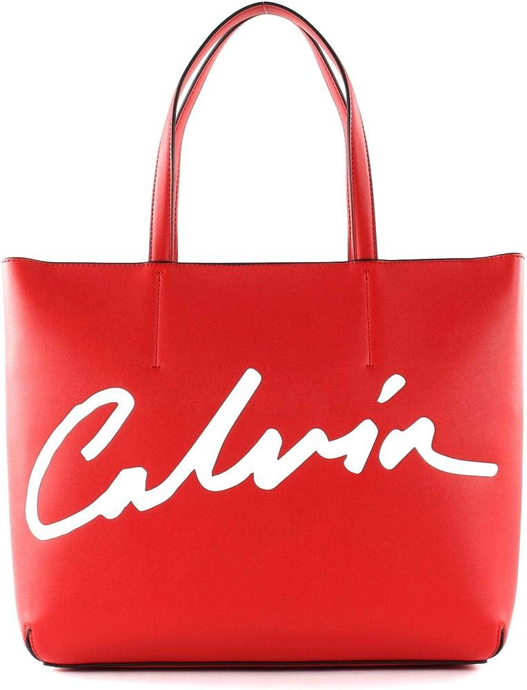 Calvin klein borsa da donna a spalla in pelle sintetica CAL2110003000001