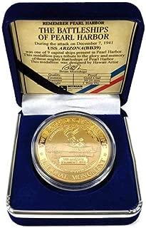 Pacific Historic Parks USS Arizona Commemorative Coin Gold Clad