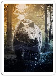 gordonstore Sticker Creature Animal Double Exposure Bear Animals Fauna (3