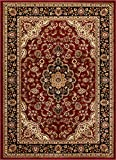 Well Woven Barclay Medallion Kashan Red Traditional Area Rug 5'3' X 7'3'