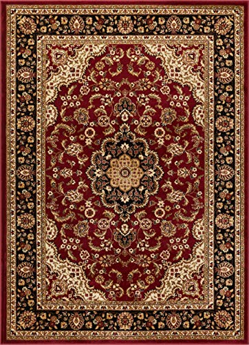 Well Woven Barclay Medallion Kashan Red Traditioneller Teppich 90 x 150 cm