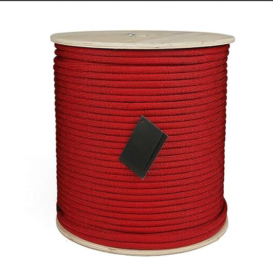 LLXYM Corde d'escalade Extérieure Corde d'escalade Corde De Sécurité Corde De Sécurité Haute Altitude Corde De Sécurité De Prougeection Contre Les Chutes,rouge,11Mm5m
