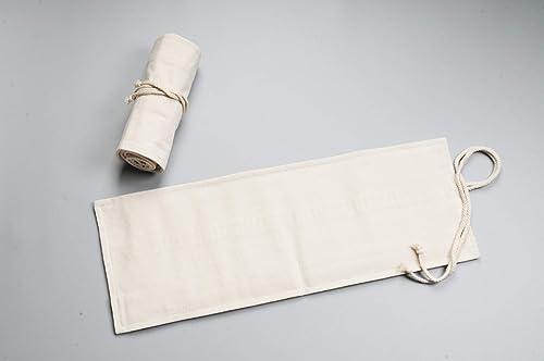 exclusivo Ogquaton Lona Pluma Bolso de la la la pluma de la cortina Color liso Viento nacional Gran capacidad Pluma Pluma Bolsa de lápiz  ordenar ahora