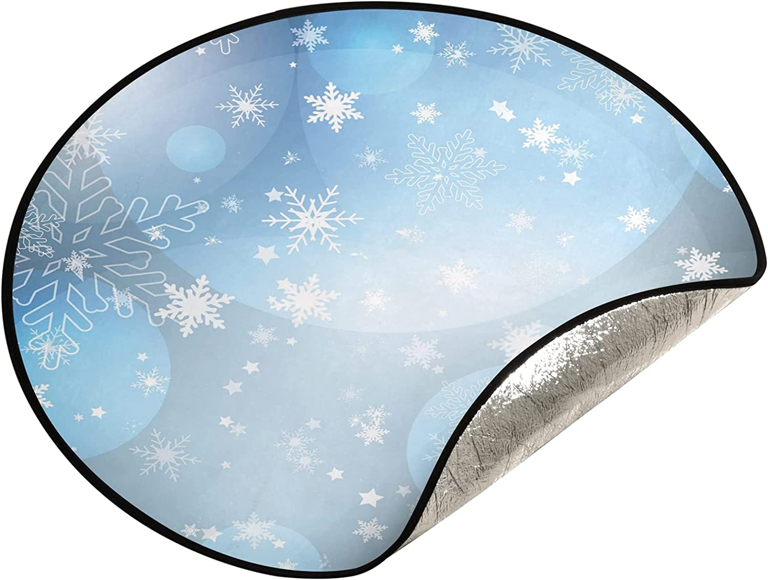 xigua 28.3 New mail order Inch Christmas Max 64% OFF Tree - Snow Stand Winter Mat