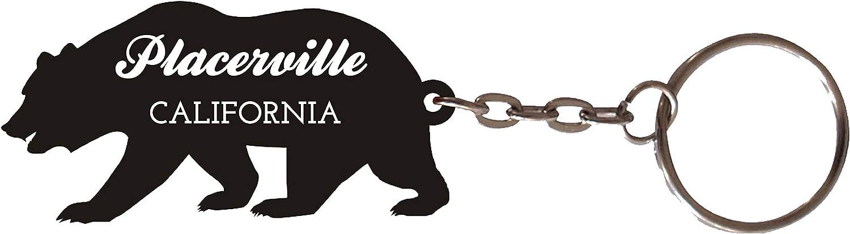 Placerville California Souvenir Metal Bear Keychain