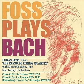 Foss Plays Bach