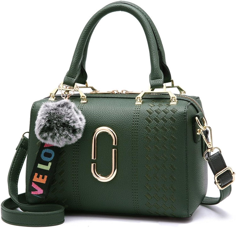 GWQGZ Neue Dame Handtasche, Pu, Einfache Und Elegante Elegante Elegante Einzelne Umhängetasche, Bequeme Und Bequeme Handtasche, Grün B07FF6YFL3  Liste der Explosionen 42aa97