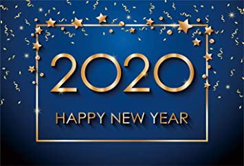 10x6.5ft Happy New Year 2020 Backdrop Vinyl Gorgeous New Year Greeting Poster Photography Background New Years Eve Celebration Party Banner Studio Child Adult Portrait Shoot
