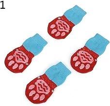 JXYY Non-Slip Pet Dog Socks Knitted Socks Cat Dog Socks Chihuahua Thickened Warm Paw Protective Sleeve Dog Socks Booty