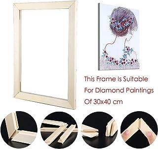 Sunnay Diamond Painting Set Full Groß, 5d Diamant Painting Bilder Vollbedeckung DIY Voll,Schmetterling,30x40cm,Tiere Fotorahmen aus Holz, 30x40cm
