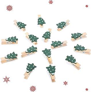 KATELUO 50 st träpinnar, fotopinnen, träklämmor, för foton, lämplig för julklippsdekoration, fotopåva, kortdesign, klippbo...