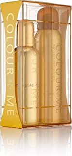 Colour Me | Gold Homme | Eau de Toilette and Body Spray | Fragrance 2 Piece Gift Set for Men | Oriental Fougere Scent | EDT Spray - 3 oz /  Body Spray - 5 oz