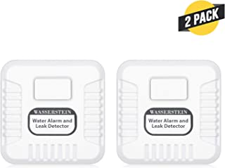 120 db Water Alarm and Leak Detector with Sensor Probe and Sensor Cable - Keep Your Home Safe from Potential Water Leakage (2 Pack)