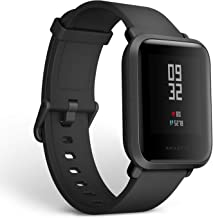 Amazfit Bip Smartwatch with All-Day Heart Rate and Activity Tracking, Sleep Monitoring, GPS, Ultra-Long Battery Life, Bluetooth, US Service and Warranty (A1608 Black)