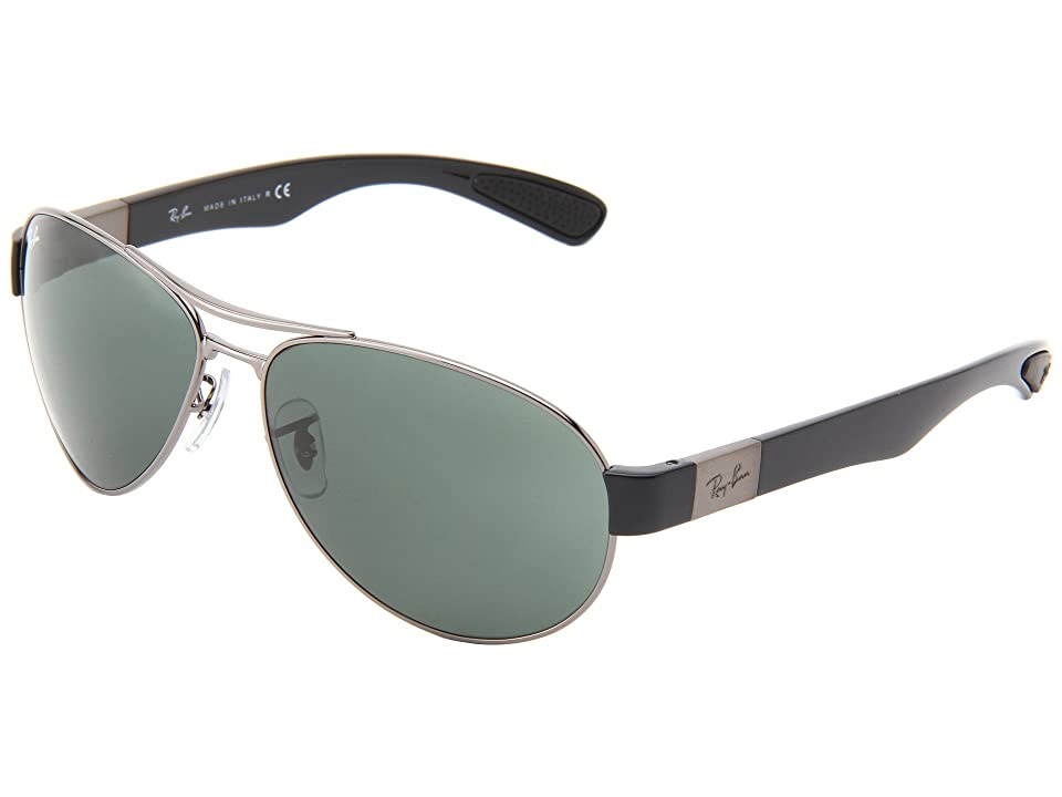 Ray-Ban RB3509 63mm (Gunmetal/Green) Fashion Sunglasses