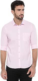 Chennis Mens Causal Shirt(Rose)