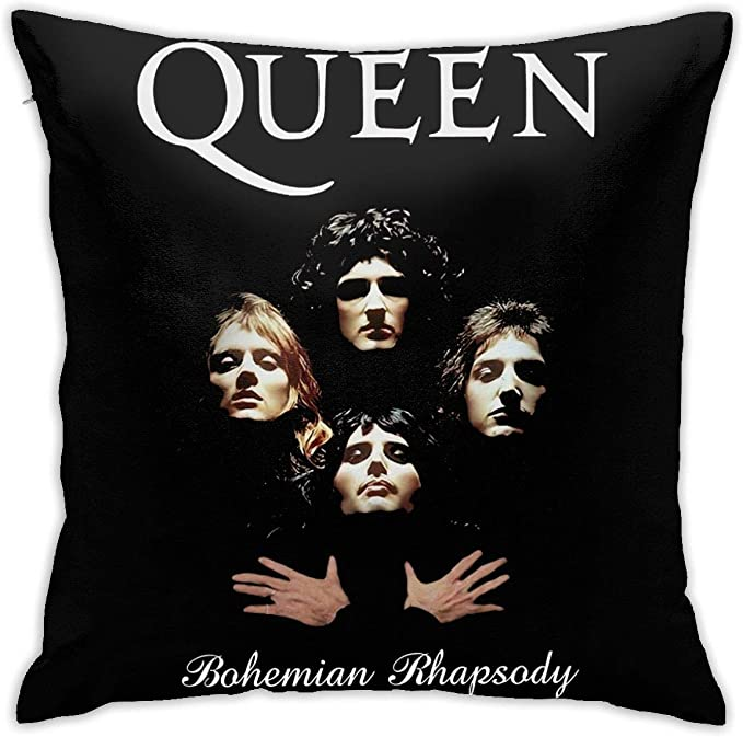 Amazon Com Xlh Fxh Queen Band Bohemian Rhapsody Freddie Mercury Throw Pillow Kitchen Dining