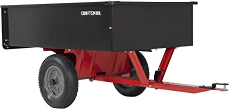 Craftsman CMX-GZ-BF-71-24355 CMXGZBF7124355, 750-Pound, 12-cu ft Steel Tow Dump Cart, Black