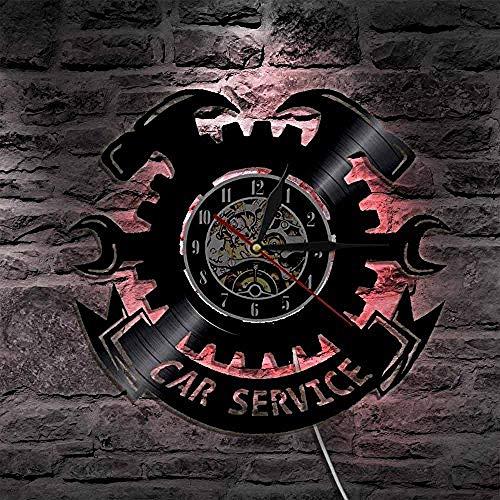 TPFEI 1 Stück Auto-Service Vinyl Record Wall-Uhr Zuhälter My Ride Vintage Uhrengeschenk für Autoliebhaber