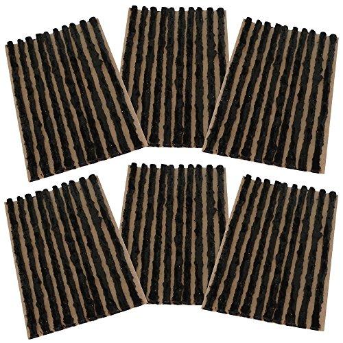 Aerzetix–Set di 60punte 4mm 10cm Nero per Kit di riparazione pneumatici