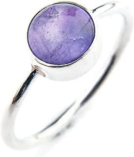 925 Sterling Silver Lapis Lazuli Cubique Zircon Améthyste Bague