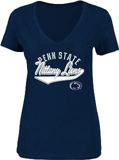 NCAA Women's Plus Size Vee-Neck Short Sleeve Cotton Tee Shirt