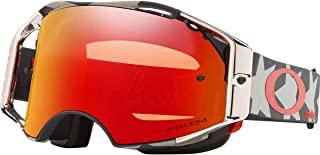 Oakley Airbrake Men's Off-Road BMX Cycling Goggles - Troy Lee Designs Stealth Patriot/Prizm Mx Trail Torch/One Size