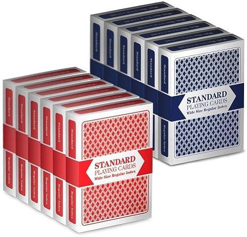 12 Decks (6 rot 6 Blau) Brybelly Cards (Wide Standard)