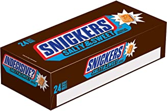 Snickers Salty & Sweet Chocolate Candy Single Size Bars, 1.82 Ounce (Pack of 24)
