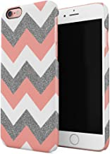 Coral Pink Chevron Glitter Pattern Tumblr Hard Thin Plastic Phone Case Cover For iPhone 6 Plus & iPhone 6s Plus
