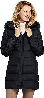 Lands' End Women's Winter Long Down Coat with Faux Fur Hood