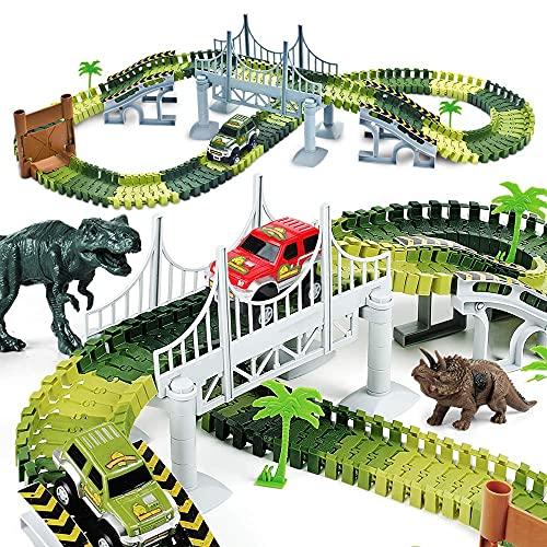AUUGUU Dinosaur Race Car Track