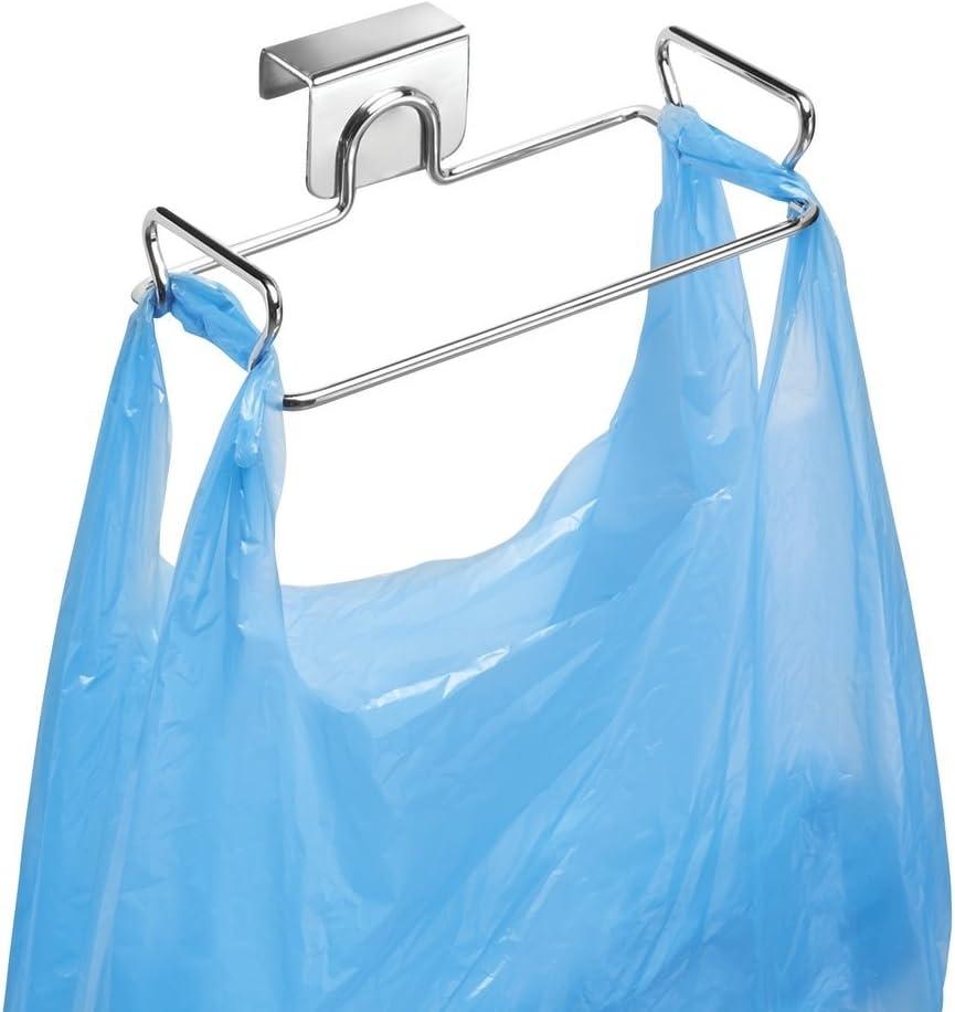 Soporte metalico para colgar bolsas de residuo