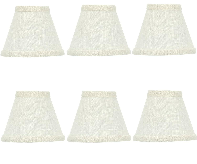 Upgradelightsのセット6ホワイトリネン5インチシャンデリアランプシェード2.5?X 5?X 4